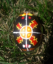 Egg decorated by my husband